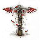 Bird Skeleton Totem by Kaitlin Beckett