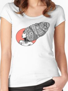 Tribal Head Piece Women's Fitted Scoop T-Shirt