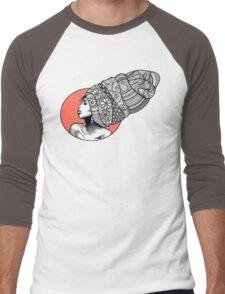 Tribal Head Piece Men's Baseball ¾ T-Shirt