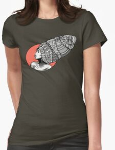 Tribal Head Piece Womens Fitted T-Shirt