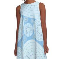Blue Rain Drops A-Line Dress
