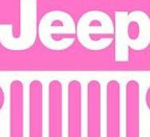 Pink Jeep Logo Sticker