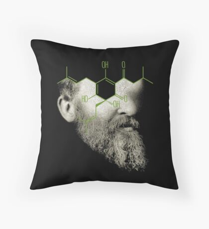 when i grow up i want to be the barfly in the ointment of entropy Throw Pillow