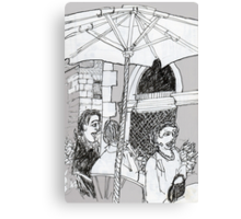 Italy-A Snack Bar in Firenze Canvas Print