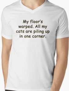 all my cats are piling up Mens V-Neck T-Shirt