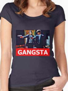 Pulp Fiction Jules and Vincent Women's Fitted Scoop T-Shirt