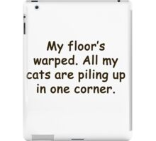 all my cats are piling up iPad Case/Skin