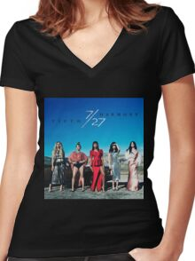 fifth harmony Women's Fitted V-Neck T-Shirt