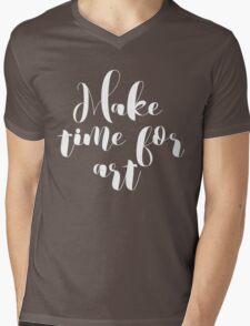 Make Time for Art Typography  Mens V-Neck T-Shirt