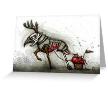 Deer & Cart Greeting Card