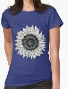 Line Sunflower Womens Fitted T-Shirt