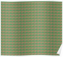 Pretzels Bretzen with Salt Pattern on Loden Green  Poster