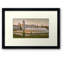 Praça do Império. Mosteiro dos Jerónimos. sunset Framed Print