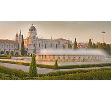 Praça do Império. Mosteiro dos Jerónimos. sunset Photographic Print