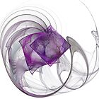 Purple Diamond Fractal - Transparent by MarkBowden