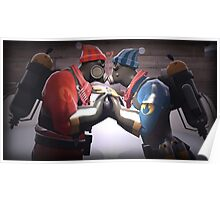 Team Fortress 2 Pyro and Fem Pyro Couple :3 Poster Poster