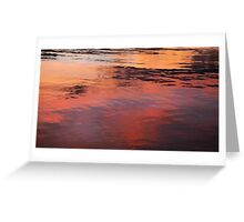 SUNSET ON WATER Greeting Card