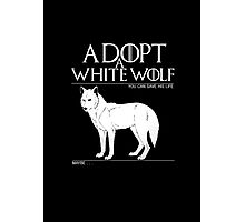 Adopt a white wolf. Photographic Print