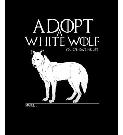 Adopt a white wolf. Sticker