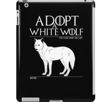 Adopt a white wolf. iPad Case/Skin