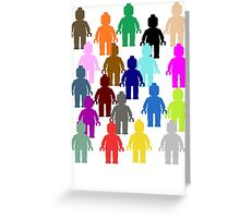 United Colors of Minifig [Large]  Greeting Card