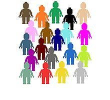 United Colors of Minifig [Large]  Photographic Print