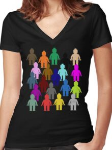 United Colors of Minifig [Large]  Women's Fitted V-Neck T-Shirt