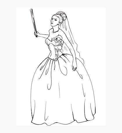 Angry Bride Photographic Print