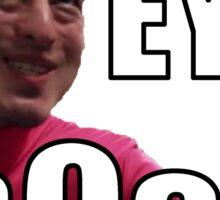 Pink Guy Ey b0ss Sticker