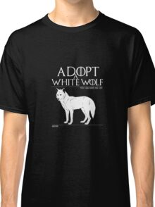 Adopt a white wolf. Classic T-Shirt