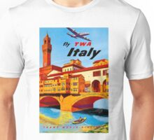 """TWA AIRLINES"" Fly to Italy Advertising Print Unisex T-Shirt"