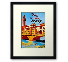 """TWA AIRLINES"" Fly to Italy Advertising Print Framed Print"