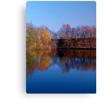 Indian summer reflections at the pond | waterscape photography Canvas Print