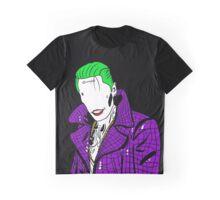 Joker PURPLE COAT BLACK BACKGROUND MINIMALIST Graphic T-Shirt