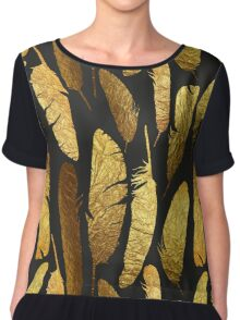 - Golden feathers - Chiffon Top