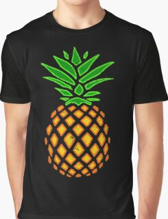 Vintage Tropical Summer Pineapple Graphic T-Shirt