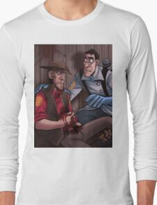 Team Fortress 2 Blu Medic Help Red Sniper Poster Long Sleeve T-Shirt