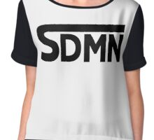 SDMN Concept Print (White) Chiffon Top