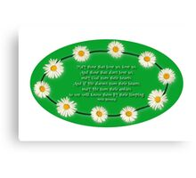 Blessing - With a Touch of Irish Humour! Canvas Print