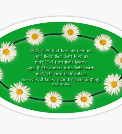 Blessing - With a Touch of Irish Humour! Sticker