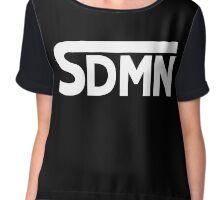 SDMN Concept Print (Black) Chiffon Top