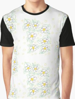 Sketched Floral With Yellow Graphic T-Shirt