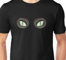 Scary Green Glowing Cat Eyes Halloween Costume Unisex T-Shirt