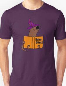 Smiletodaytees Sea Otter Reading Book Hairy Otter Unisex T-Shirt