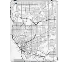 Buffalo Map, USA - Black and White iPad Case/Skin