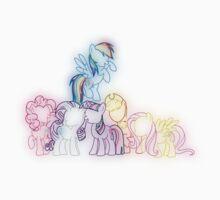 Pony Friends Neon Glow Lights One Piece - Short Sleeve