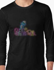 Pony Friends Neon Glow Lights Long Sleeve T-Shirt