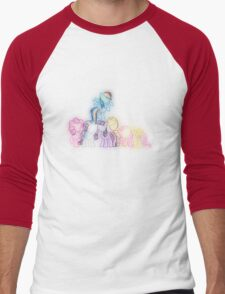 Pony Friends Neon Glow Lights Men's Baseball ¾ T-Shirt