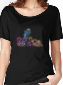 Pony Friends Neon Glow Lights Women's Relaxed Fit T-Shirt