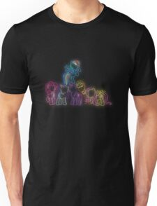 Pony Friends Neon Glow Lights Unisex T-Shirt